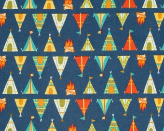 Camelot - Happy Camper Flannel - Teepees + Tents
