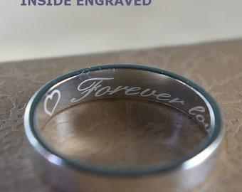 Professional Inside Ring Band Engraving, Inside ring engraving. Engraved Ring, Inside Engraved Ring. Engraved Wedding Ring