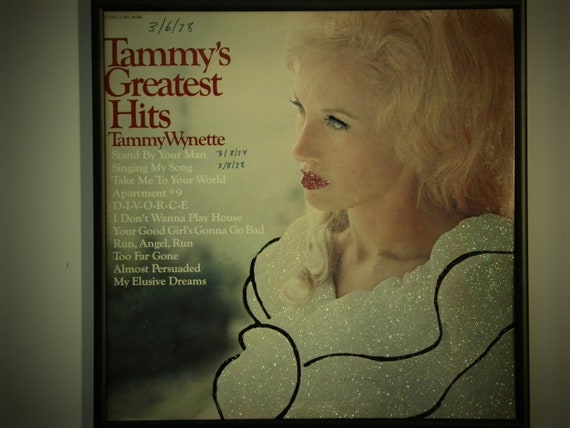 Glittered Record Album - Tammy Wynette