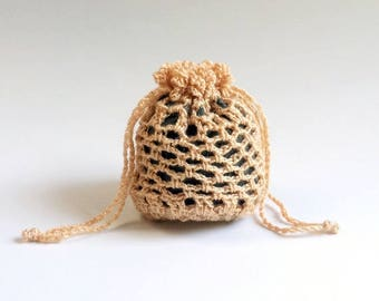 Tiny Crochet Bag, Coin Purse, Guitar Pick bag - Free Shipping Domestic
