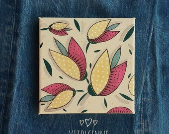 Original Mini Paintings - Mini Canvas art Home decor by Vijolcenne