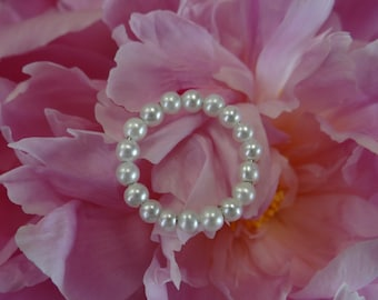 Natural Freshwater Pearl Wedding 14K Wire Band