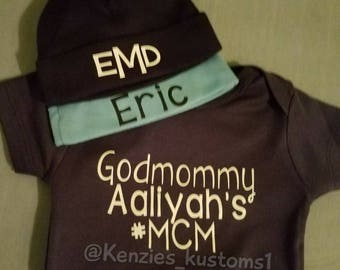 Custom baby hats, choose from baby's name or monogram. **this listing is for HAT only**