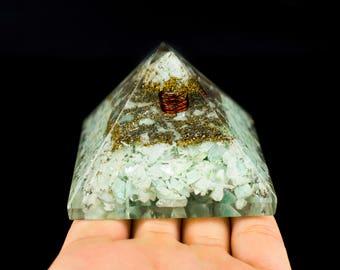 Amazonite Orgone Pyramid