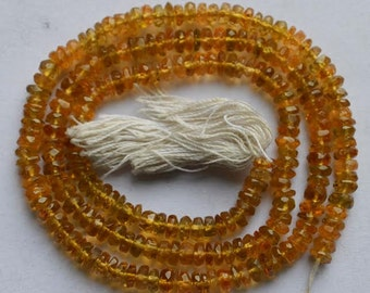 Yellow Tourmaline Faceted Beads 14 inch Strand