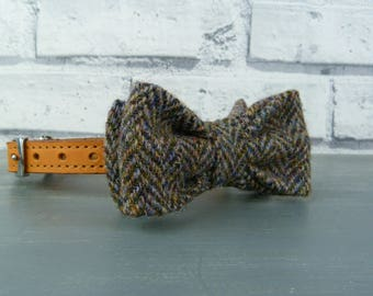 Dog Bow Tie - Harris Tweed, multi autumnal colours, Harris Tweed Bow Tie for Dogs