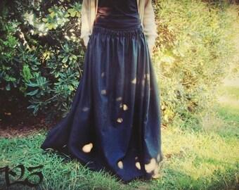Long Skirt - Festival skirt - Gypsy - Boho - Dance - Cotton Linen or light cotton - Choose your color
