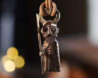 Odin bronze pendant - statuette inspiration