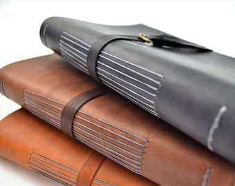 Leather Journal, Leather Sketchbook, Leather Notebook