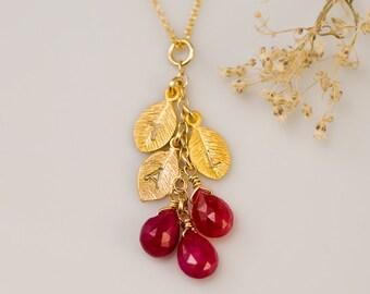 Gift For Mom - Birthstone Cascade Necklace - Custom Initial Jewelry - Personalized Birthstone Necklace - Personalized necklace-
