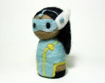 Needle Felted Symmetra Overwatch Doll [MADE-TO-ORDER]
