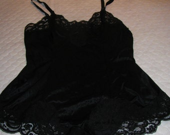 Vintage French Maid lingerie; Made in Canada; black