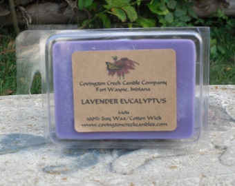 Eucalyptus Lavender Pure Soy Breakaway Melt Spring Scented.