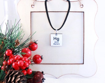 Chemistry Periodic Table Necklace - Science Jewelry - Personalized gift idea!