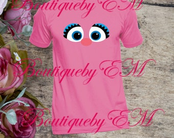 Abby Cadabby face Sesame Street inspired T-shirt, MORE CHARACTERS AVAILABLE!