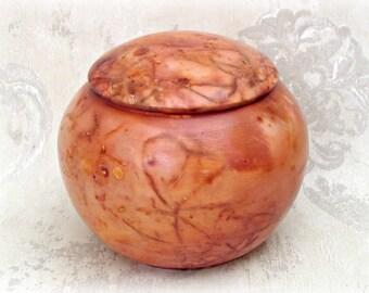 Saggar Fired Lidded Jar or Pet Urn