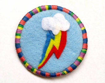 Rainbow Dash Cutie Mark My Little Pony Friendship is Magic Badge Pin Patch