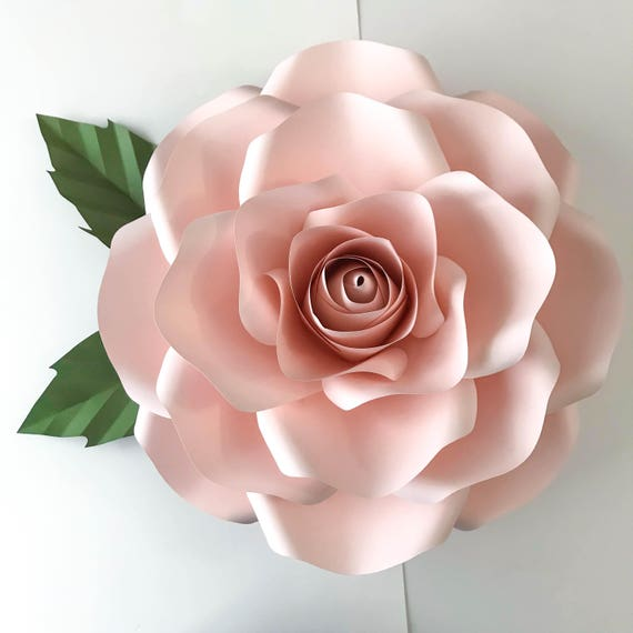 Pdf new large rose paper flower template w rose bub center for Big flower paper template