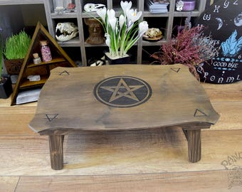 Beautiful Altar Table, Pentagramm, 4 Elements