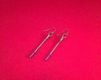 Bicycle Earrings, Upcycled Bike Parts, Chain Link Earrings, Gift for Cyclist, Bike Spoke Earring