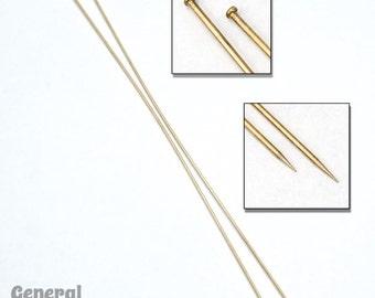 7 Inch Raw Brass Hat Pin (2 Pcs) #3325