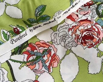 ZELDZAAM. FQ van rasechte deken van bloemen door Erin Michael voor Moda stoffen