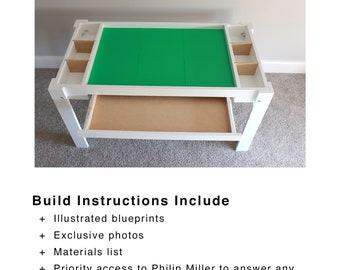 Lego Kid Play Table Blueprint - Woodworking