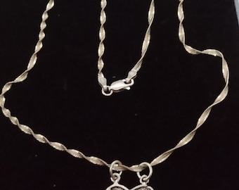 Vintage boxed sterling silver Friends necklace