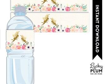 Fairy Water Bottle Label / Garden Water Bottle Label / Flower Water Bottle Label / Playdoh Label / Pixie Elves Water Bottle Label FY01