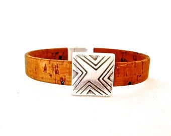 Geometrc Vegan Bracelet  - Vegan Jewelry - Eco Friendly Jewelry - Hippie Jewelry - Boho Chic