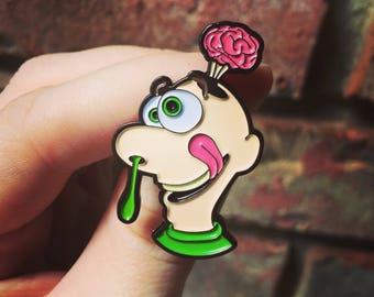 Gooey Louie Enamel Pin