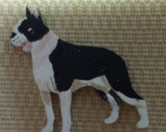 Boston Terrier dog pin custom