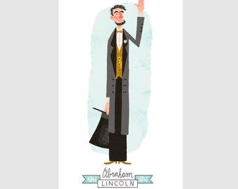 Standing Lincoln Print