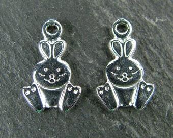Sterling Silver Rabbit Charm 12mm