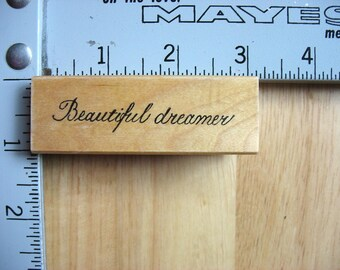 Rubbermoon Beautiful Dreamer DESTASH Rubber Stamp, Used Rubberstamp