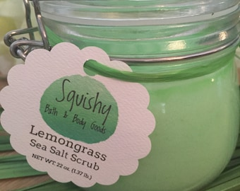 Lemongrass Sea Salt Scrub - 22 oz