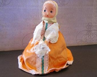Vintage Russian Samovar Warmer or Tea Cozy Doll and Tea Warmer