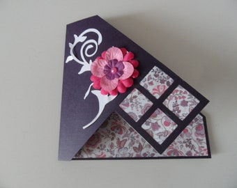 """Birthday card, scrappee, paper card style """"Liberty"""""""