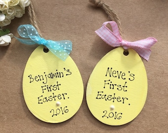 Babies baby childs first easter gift personalised egg childrens easter keepsake gift x 1