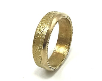 Wedding ring, wedding coin ring, one of a kind, ring for lovers, vintage jewelry, gold color, size 6,7,8,9,10, ring for women