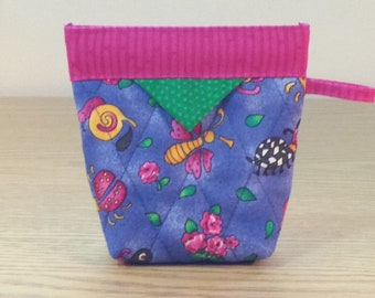 Quilted Snap Bag (SB618) Bugs