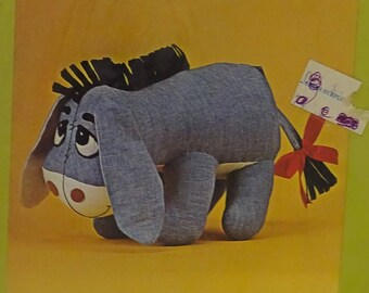 Vintage Bucilla Winnie the Pooh Eeyore Toy Stuffed FREE Shipping USA