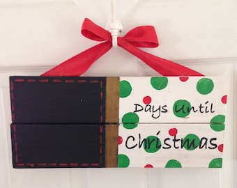 Days until christmas chalkboard