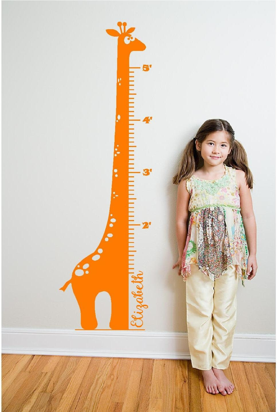 Personalized 6 giraffe growth chart vinyl decall zoom geenschuldenfo Image collections
