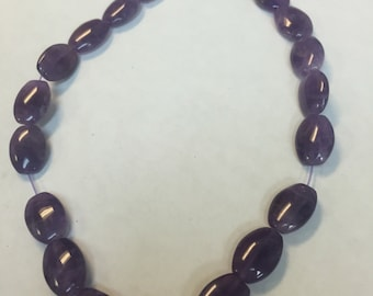 16x12 oval beads Amethyst
