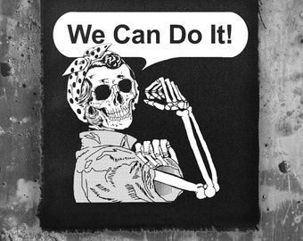 We can do it back patch • feminism • punk fashion • patches • fabric • custom patches