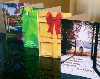 Healthy Motivational Greeting Cards (blank inside)