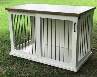 Custom Dog Kennel Double Door