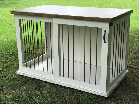 Custom Dog Kennel Dog Crate Furniture Sliding Door Kennel