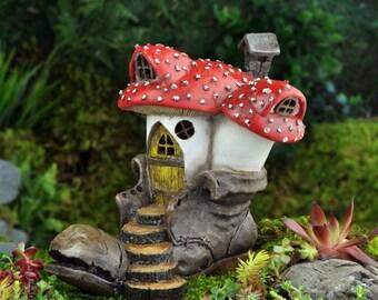 Fiddlehead Clodhopper Fairy House